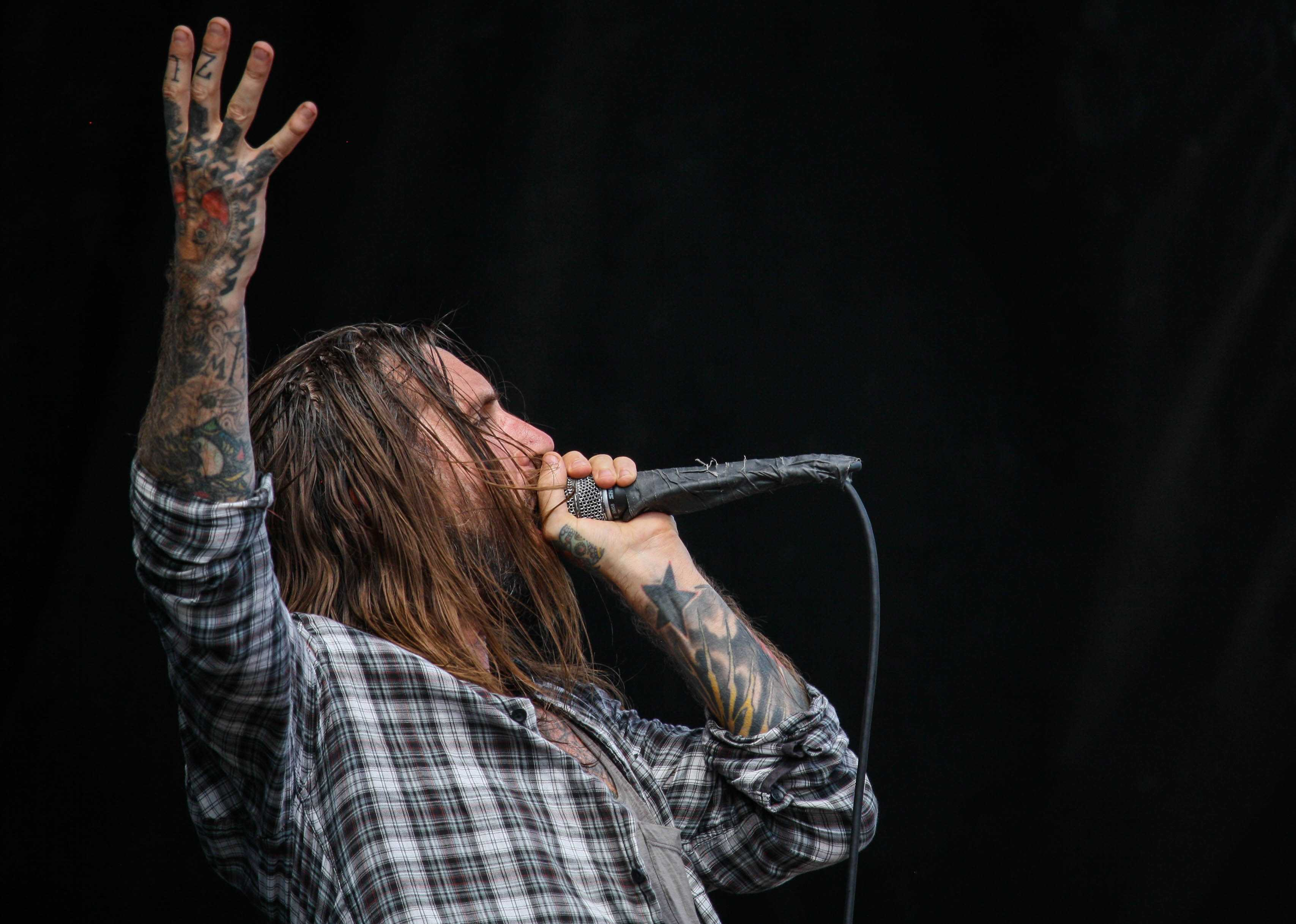 Keith Buckley of Every Time I Die. Unfortunately I wasn't able to actually shoot I See Stars.