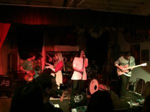The Scenic Route plays NoDAPL benefit show at the Water Street Gallery in Kent on Nov. 17, 2016. Photo by Mikala Lugen