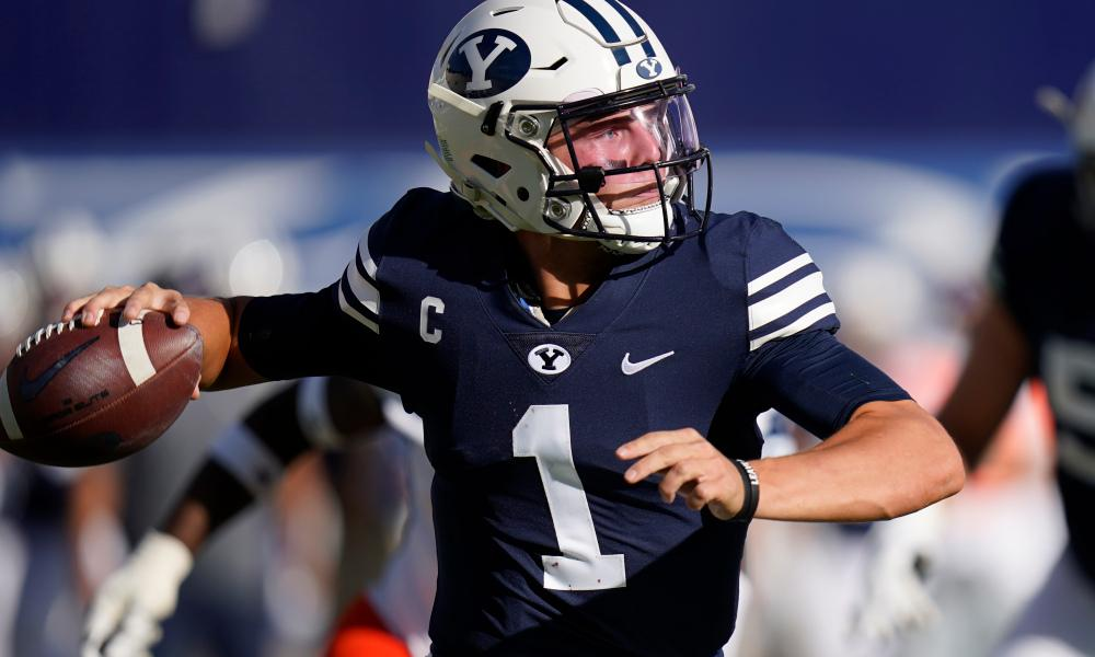 Photo of BYU Quarterback Zach Wilson.